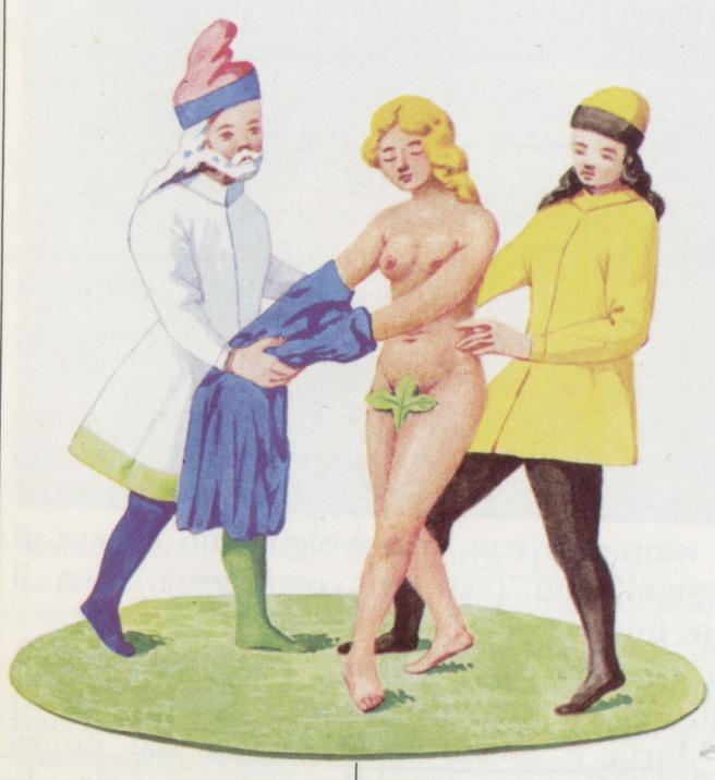 sposa a nudo medievale